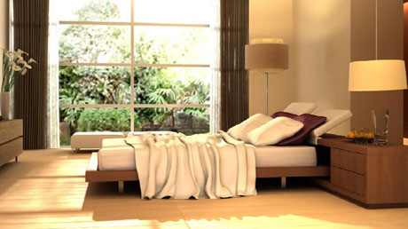 comfortable dream the natural bedroom scene 3D model