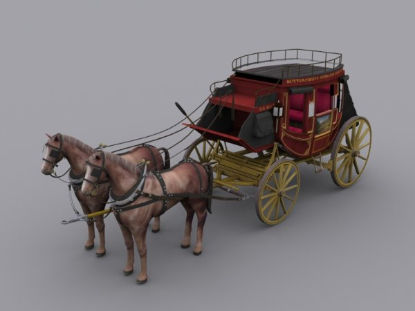 aristocratic carriage 3D material