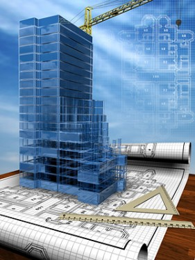 3D buildings and plan drawings of  3