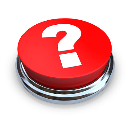 3d red question mark button Images