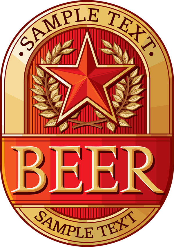 Beer signs vector material 4