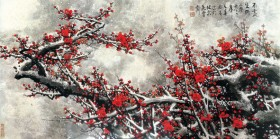 Chinese painting plum HD picture