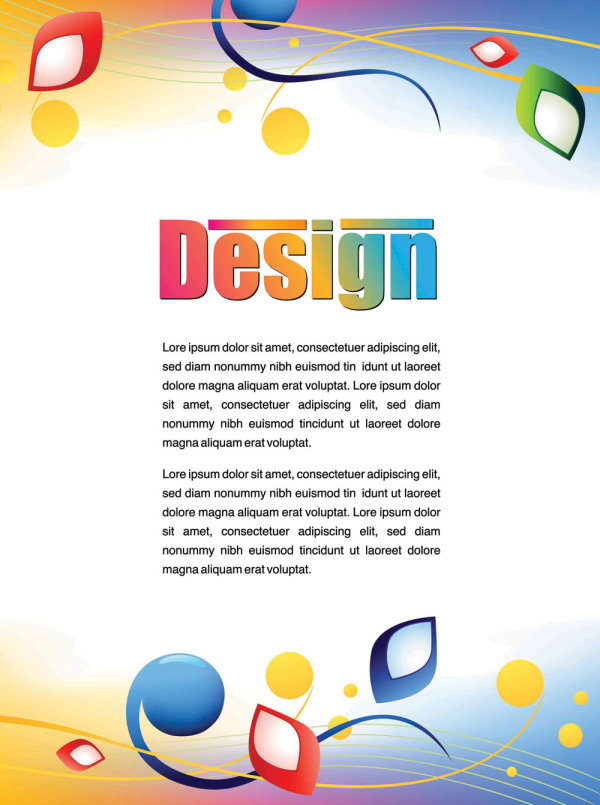 Colorful advertising posters 01 vector material