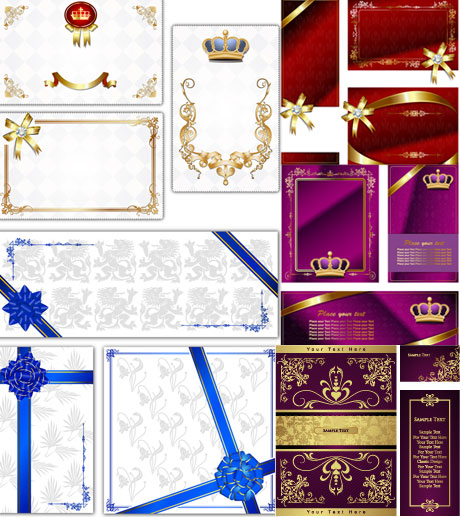 European the exquisite card background Vector
