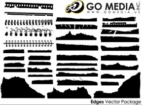 Go Media produced vector material paper silhouette