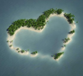 Heart shaped island 03   high definition picture