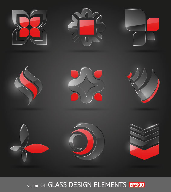 The glass texture icon 01 vector material