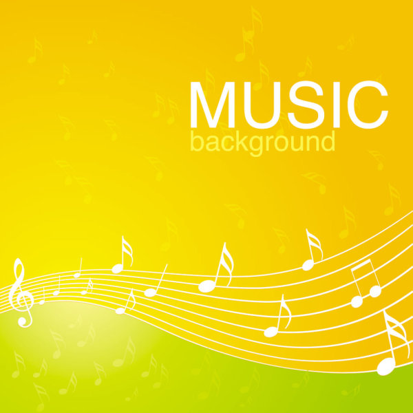 The vibrant musical background pattern vector material 04 vector material