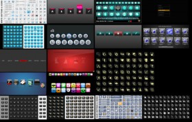 17 flash buttons and menu source file material