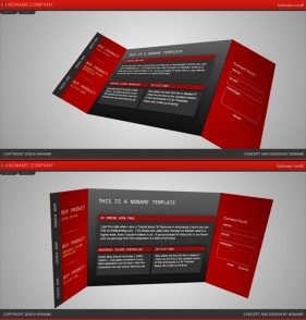 3D folding style flash xml website templates