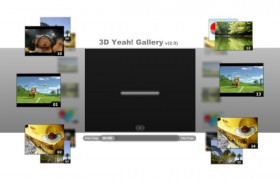 3D video album flash xml footage