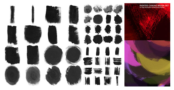 55 models of high definition ink photoshop brush material