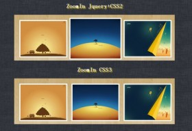 CSS jQuery the analog CSS3 Image amplification effect of contrast