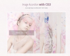 CSS3 images accordion effect