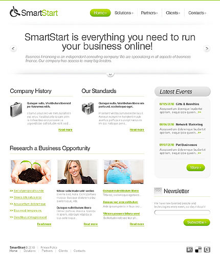 Concise Introduction to Business css xhtml web templates  2