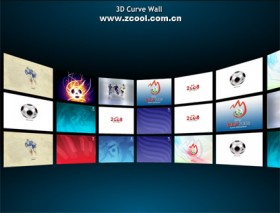 Cool 3d picture wall flash xml source file