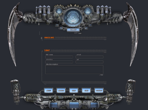 Cool mechanical FLASH Cool source Various elements and animation