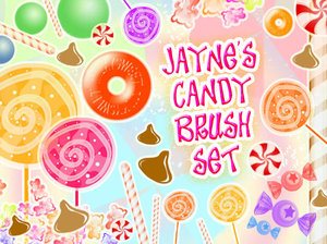 Cute candy the PHOTOSHOP brush The