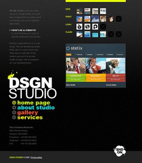 Designer profile station flash Templates
