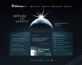 Earth theme commercial full flash templates