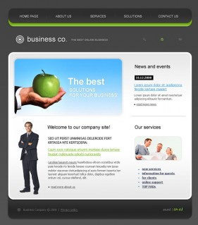Exquisite European style website template psd fla source file  2