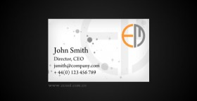 Flash xml 3D business cards flash material