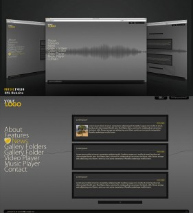 FlashDen produced XML Flash website templates