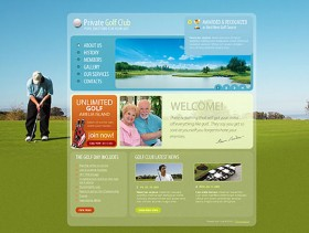 Golf website css xhtml web template