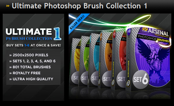 Gomedia produced classic trend Photoshop Brushes Collection 1