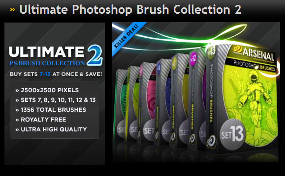 Gomedia produced classic trend Photoshop Brushes Collection 2 (on)