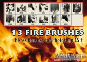 High Definition flame, flames the brush (bis)