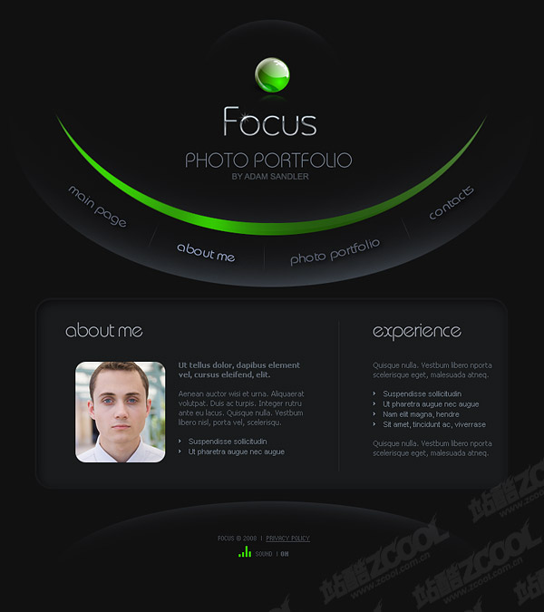 Individual full flash cool personality templates
