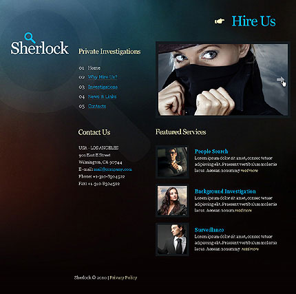 4 designer personalized corporate css xhtml web templates
