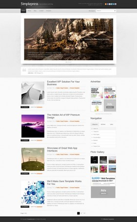 Simple personal blog css xhtml web templates