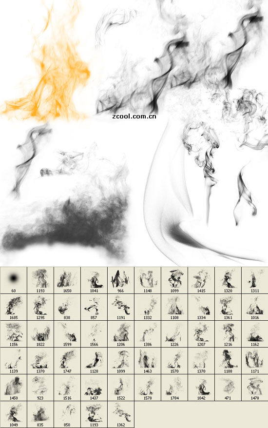 Smoke effects to PS brushes 02