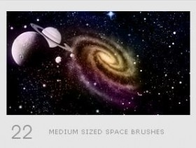 The cool universe galaxy PHOTOSHOP brushes