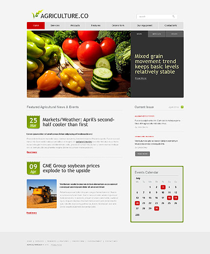 The simple agricultural enterprises css xhtml web templates