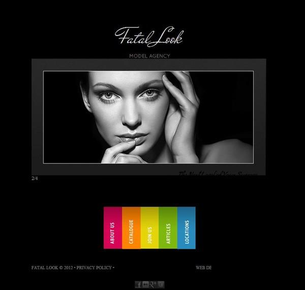 Web templates   black and white personalized concise web templates