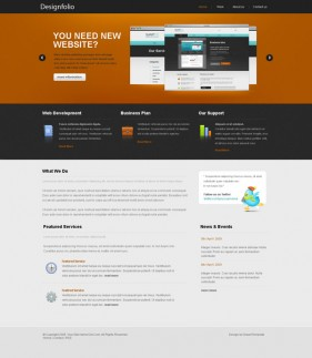 Web2.0 designers Profile css xhtml js site wide template  2