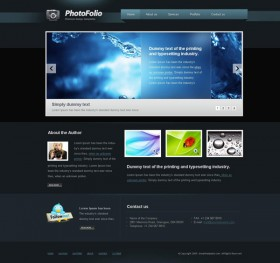 Web2.0 designers Profile css xhtml js site wide template  4