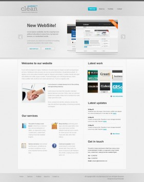Web2.0 designers Profile css xhtml js site wide template  6