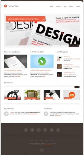 Wordpress theme template html css
