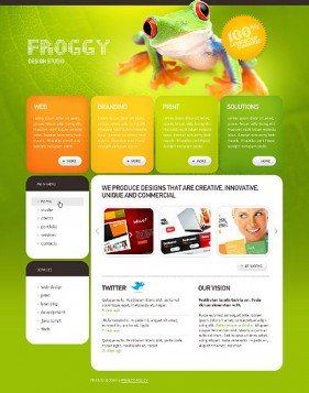 design studio website css xhtml web templates