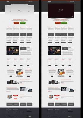 content rich enterprise product website Html5 Css3