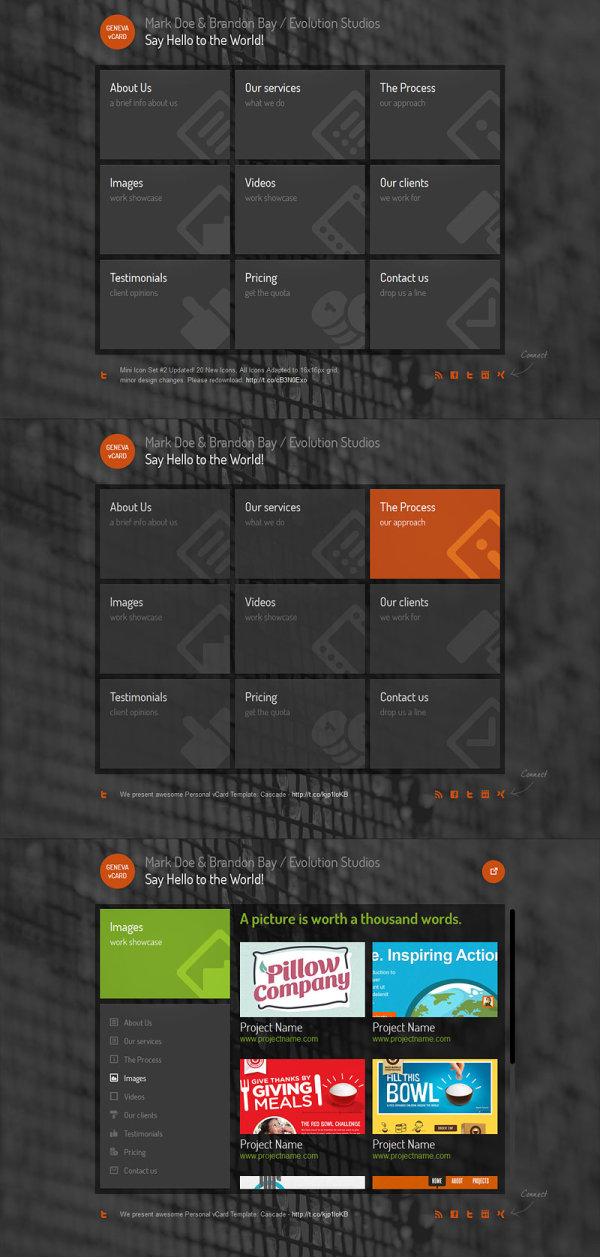 the a practical profile template Html5 Css3 No.2