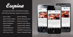designed specifically for mobile phone users browse Web Template Html5 Css3