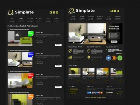 CSS XHTML home shopping website template