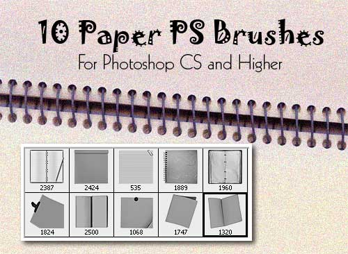 10 high resolution paper type PS brushes