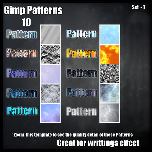10 models of ultra fine texture the PS pattern set