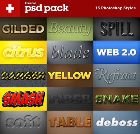 15 of nice special effects PS font styles